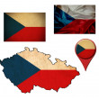 Grunge Czech Republic flag, map and map pointers  — Stock Photo #50118297