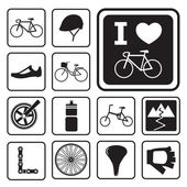 Bicycle icons — Stock Vector