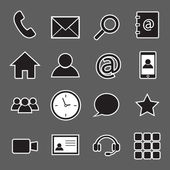 Communication sticker icons — Stock Vector