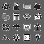 Finance sticker icon — Stock Vector