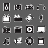 Icono de etiqueta multimedia — Vector de stock