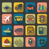 Flat transport icon — Stock Vector