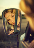 Face in a mirror — Stock Photo
