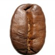 Close-up of a single coffee bean (vertical position) - Kaffeebohne — Stock Photo