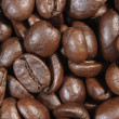 Close-up of some coffee beans - Einige Kaffeebohnen — Foto de stock #12148203