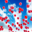 Red balloons — Stock fotografie