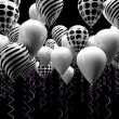 Black and white ballons - Stock Photo