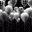 Black and white ballons — Stock Photo
