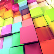 Stock Photo: Colored cubes background