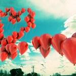 Heart shape balloons — Stock Photo