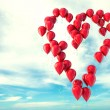 Balloons heart shape — Stock Photo
