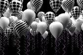 Black and white ballons — Stock Photo