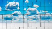 Abstract sky mosaic background. — Stock Photo