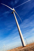 Wind mill and blue sky — Stock Photo