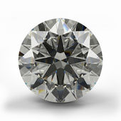 Top view of round diamond. — Stock Photo
