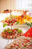 Appetizer on the table — Stock Photo