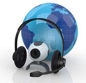 Comunicações globais de internet — Fotografia Stock