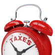 Stock Photo: Time for taxes