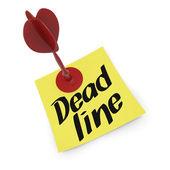Deadline concept — Stockfoto