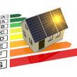 Stock Photo: Energy efficiency scale