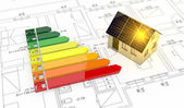Energy efficiency scale — Stock Photo