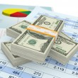 Us dollars and financials documents — Stock Photo