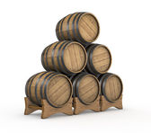 Wooden barrels — Stock Photo