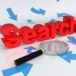 Concept of search — Stock Photo