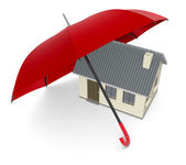 Concepto de protección de la casa — Foto de Stock