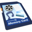 Multimedia data on a memory card — Stock Photo