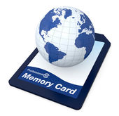 All your data in a memory card — Stock Photo