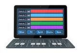 Computer music software — ストック写真