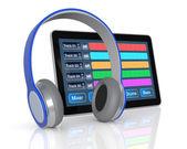 Computer muzieksoftware — Stockfoto