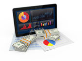 Financial software — Stock Photo