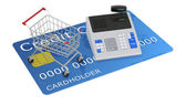 Shopping with credit card — Stock Photo