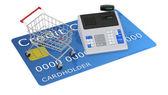 用信用卡购物 — 图库照片