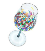 Cocktail of pills — Stock Photo