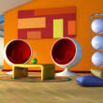 Attic living room — Stock Photo #5262878