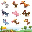 Collection of farm animals - Stock Vector