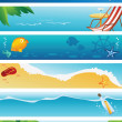 Royalty-Free Stock Vector Image: Set of 6 summer beach banners
