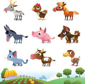Collection of farm animals — Stock Vector