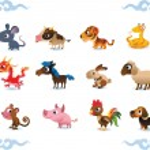Vector animals - symbols of chinese horoscope — Stock Vector #12400481