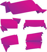 Set of origami banners — Stock Vector