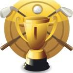 Vector golf award — Stock Vector
