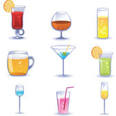 Set cocktails — Stock Vector