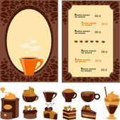 Menu for cafe — Stock Vector