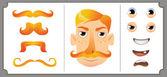 Set of mustache — Stock Vector