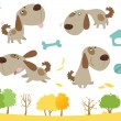 Cartoon dog collection — Vector de stock #13127251