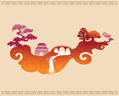Abstract Decorative Chinese Background — Stock Vector