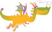 Cartoon dragons in vector 1 — Stock Vector